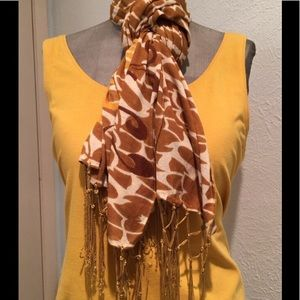 Lucky Brand Scarf with Peace Sign
